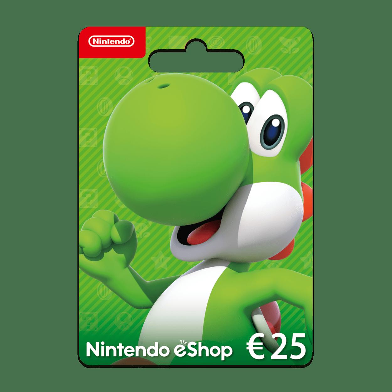 Carte Cadeau Nintendo Eshop.Carte Nintendo 25 Euros